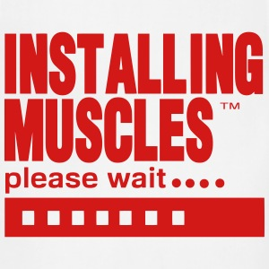 INSTALLING MUSCLES please wait... T-Shirts - Adjustable Apron