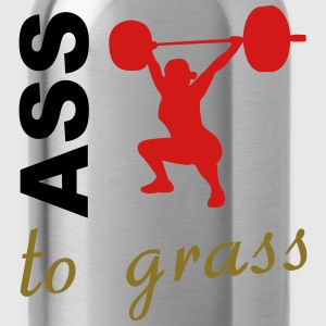 Ass To Grass - Workout and Weight Lifting Women's T-Shirts - Water Bottle