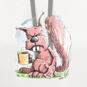 Monday Morning Squirrel Women's T-Shirts - Contrast Hoodie