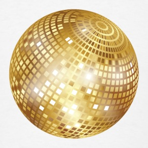 Disco Ball / Mirror Ball (Gold, PNG) Button - Men's T-Shirt