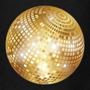 Disco Ball / Mirror Ball (Gold, PNG) Tote Bag - Men's T-Shirt