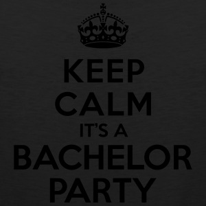 Keep calm it's Bachelor Party T-Shirts - Men's Premium Tank