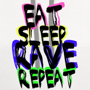 Rave Repeat Women's T-Shirts - Contrast Hoodie