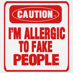 CAUTION I'M ALLERGIC TO FAKE PEOPLE Women's T-Shirts - Adjustable Apron