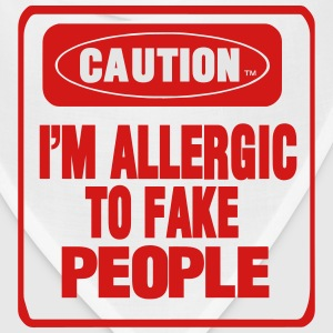 CAUTION I'M ALLERGIC TO FAKE PEOPLE Women's T-Shirts - Bandana