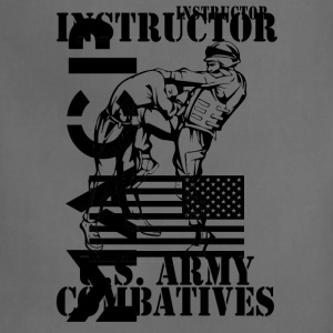 Army Combatives Knee Instructor Back T-Shirts - Adjustable Apron