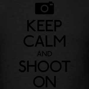 Keep Calm an Shoot on Hoodies - Men's T-Shirt