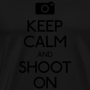 Keep Calm an Shoot on Hoodies - Men's Premium T-Shirt