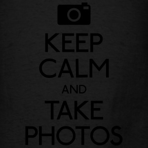 Keep Calm and take photos Bags & backpacks - Men's T-Shirt