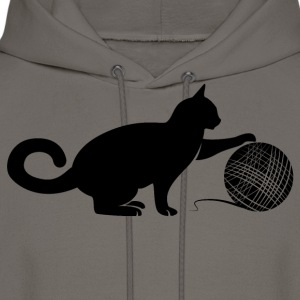 Cat play the Wool T-Shirts - Men's Hoodie