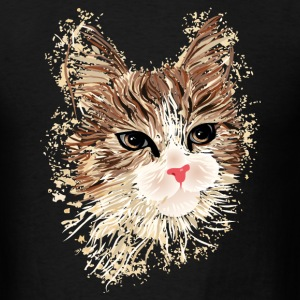 Artistic Cat Long Sleeve Shirts - Men's T-Shirt