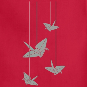 Hanging Origami Cranes Women's T-Shirts - Adjustable Apron