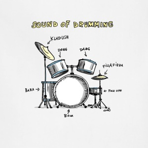 Sound of Drumming - Drumset Women's T-Shirts - Adjustable Apron