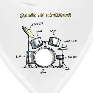 Sound of Drumming - Drumset Women's T-Shirts - Bandana