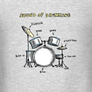 Sound of Drumming - Drumset Long Sleeve Shirts - Men's T-Shirt
