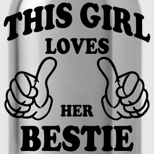 this girl loves her bestie Hoodies - Water Bottle