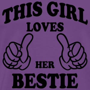 this girl loves her bestie Hoodies - Men's Premium T-Shirt
