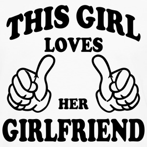 this girl loves her girlfriend Hoodies - Men's Premium Long Sleeve T-Shirt