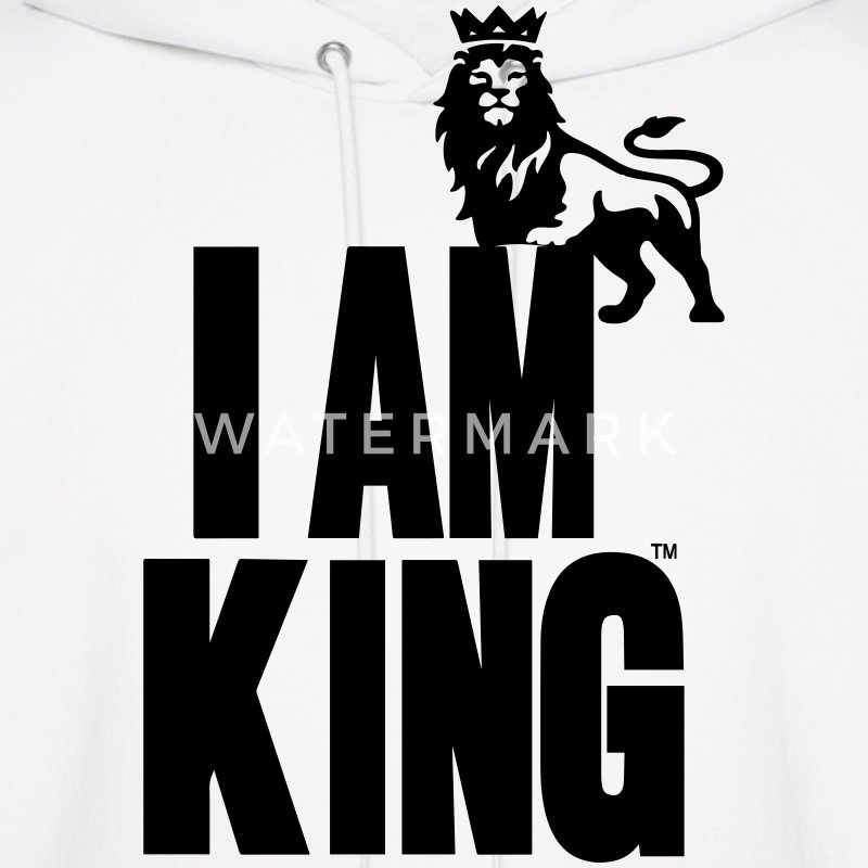 I AM KING Hoodies - Men's Hoodie