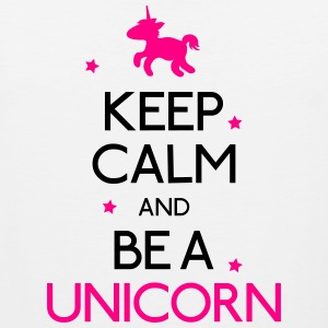 keep calm and be a unicorn T-Shirts - Men's Premium Tank