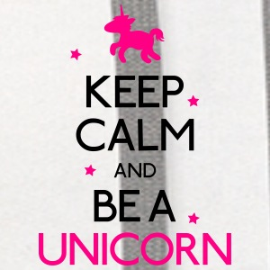 keep calm and be a unicorn Bottles & Mugs - Contrast Hoodie