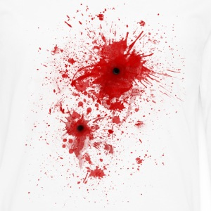 Blood spatter / bullet wound - Costume  Hoodies - Men's Premium Long Sleeve T-Shirt