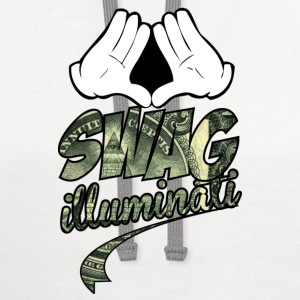 illuminati swag part two Women's T-Shirts - Contrast Hoodie