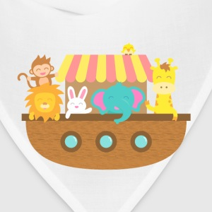 Noah Ark, Cute Animals, for Kids Baby & Toddler Shirts - Bandana
