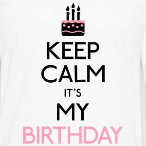keep calm birthday Kids' Shirts - Men's Premium Long Sleeve T-Shirt