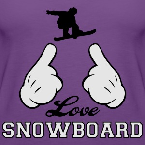 Love Snowboard Hoodies - Women's Premium Tank Top