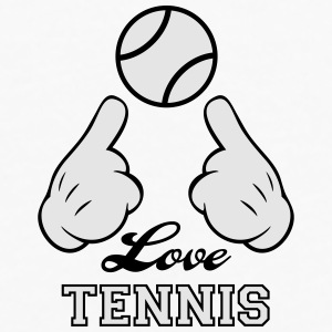 Love Tennis Bottles & Mugs - Men's Premium Long Sleeve T-Shirt