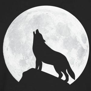 Howling Wolf - Moon T-Shirts - Men's Premium Long Sleeve T-Shirt