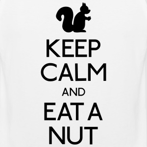 keep calm squirrel  T-Shirts - Men's Premium Tank