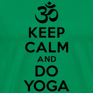 Keep calm and do yoga Hoodies - Men's Premium T-Shirt