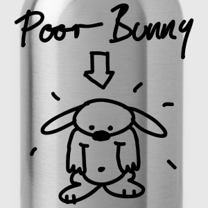 Poor Bunny T-Shirts - Water Bottle