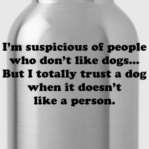 Trust Dogs T-Shirts - Water Bottle