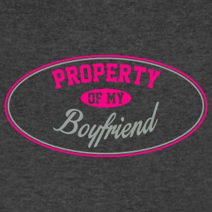 PROPERTY OF MY GIRLFRIEND Tanks - Men's V-Neck T-Shirt by Canvas