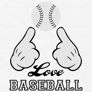 Love Baseball Bottles & Mugs - Men's T-Shirt