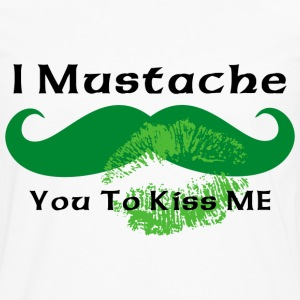 Mustache Irish Kiss T-Shirt - Men's Premium Long Sleeve T-Shirt