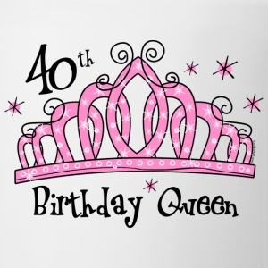Tiara 40th Birthday Queen T-Shirt - Coffee/Tea Mug