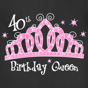Tiara 40th Birthday Queen DK T-Shirt - Adjustable Apron