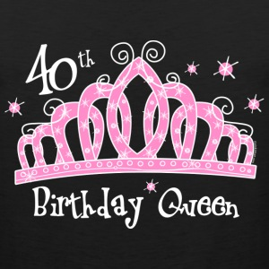 Tiara 40th Birthday Queen DK T-Shirt - Men's Premium Tank
