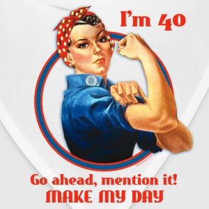 Rosie Riveter 40th Birthday T-Shirt - Bandana