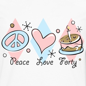 Peace Love 40th Birthday T-Shirt - Men's Premium Long Sleeve T-Shirt