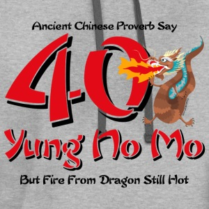 Yung No More 40th Birthday T-Shirt - Contrast Hoodie