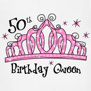 Tiara 50th Birthday Queen T-Shirt - Adjustable Apron