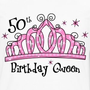 Tiara 50th Birthday Queen T-Shirt - Men's Premium Long Sleeve T-Shirt