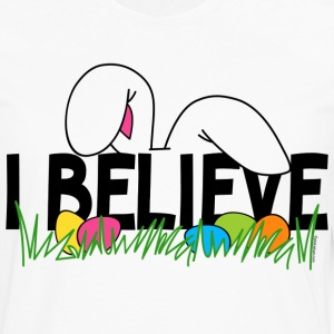 Believe In The Easter Bunny T-Shirt - Men's Premium Long Sleeve T-Shirt