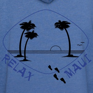 Relax Maui in two color print - Unisex Lightweight Terry Hoodie