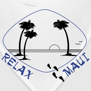 Relax Maui in two color print - Bandana